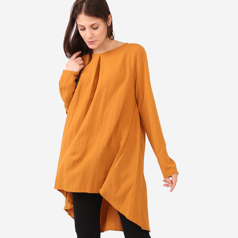Aisya Yellow Loose Blouse
