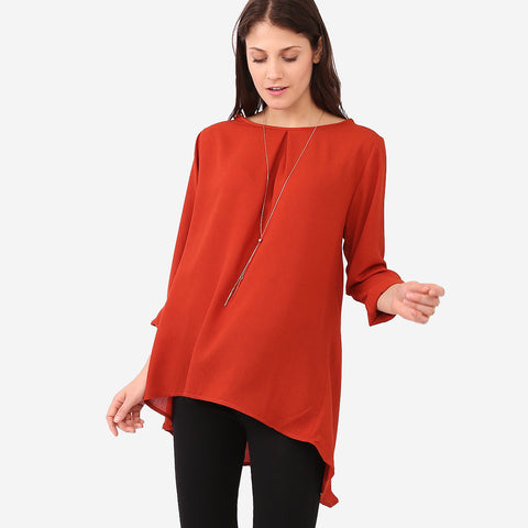 Aisya Brown Loose Blouse