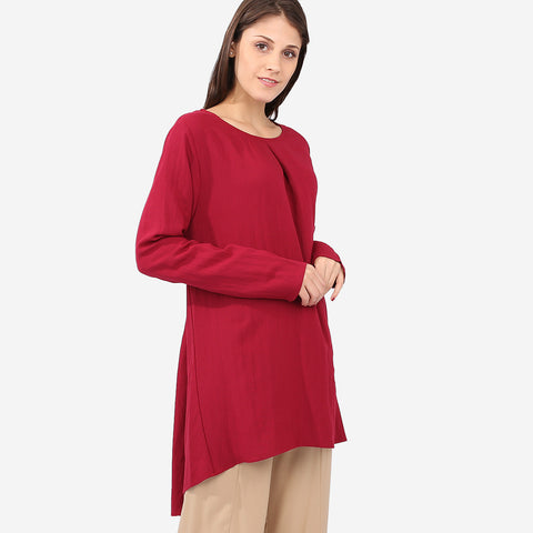 Aisya Red Loose Blouse