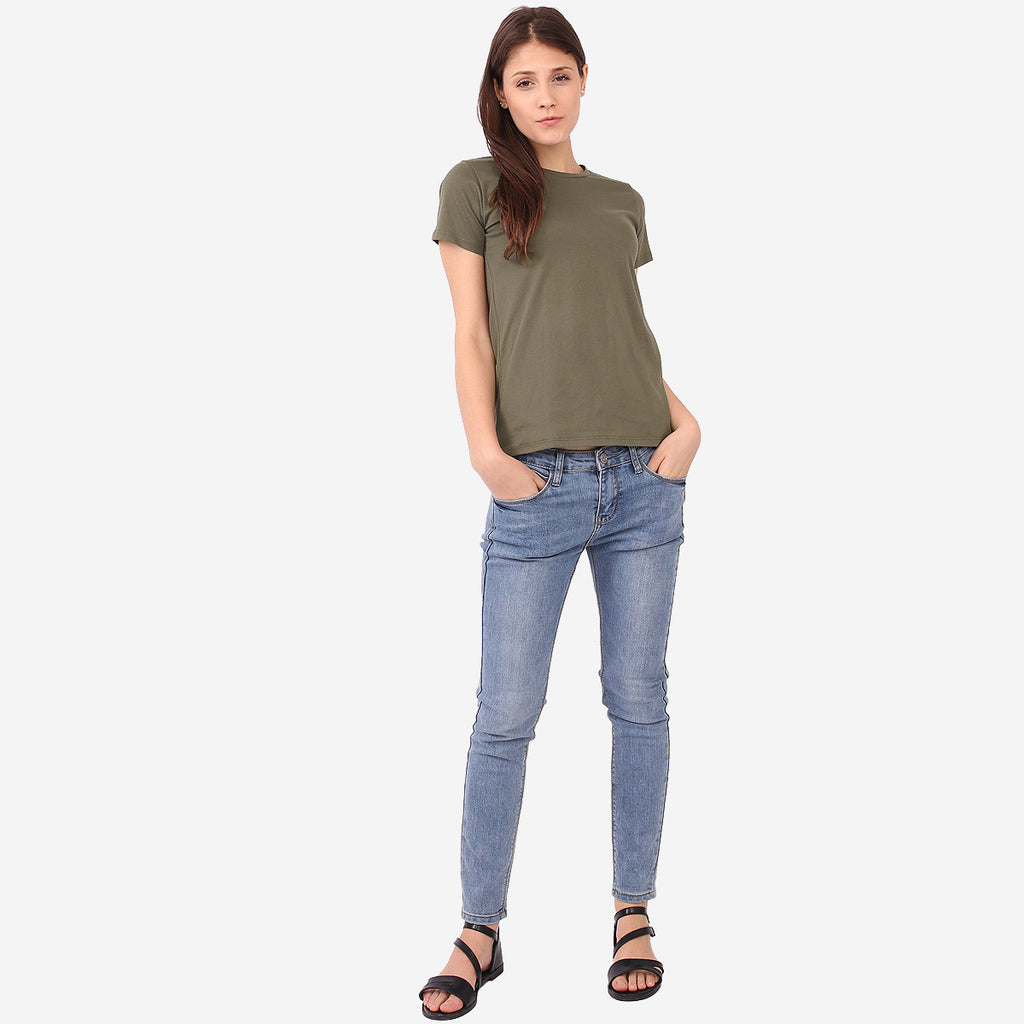 Army Green Basic Tee