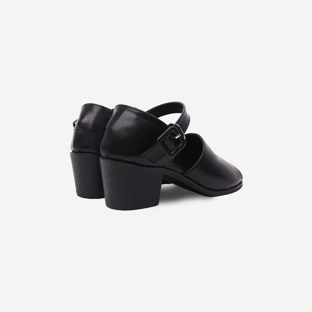 Strong Girl Black Heel Ankle Shoes