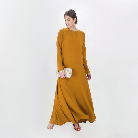 Leila Yellow Dolman Dress