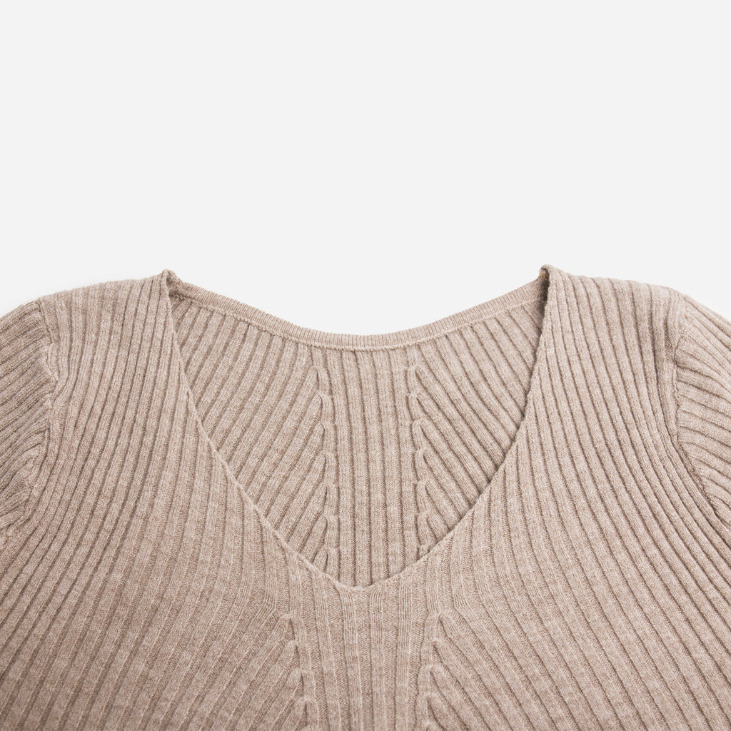Vanesa Beige Knitted Top