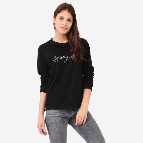 Black Strong Girl Sweatshirt
