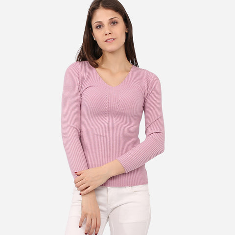 Vanesa Purple Knitted Top