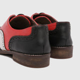Women's Oxford in 2 Tone Red Leather