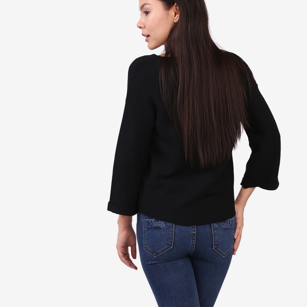 Black Sophie Knit Top