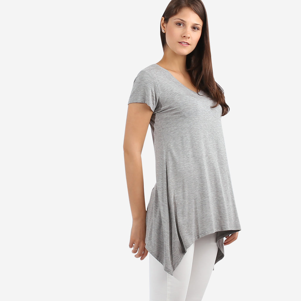 Grey Curved Tee