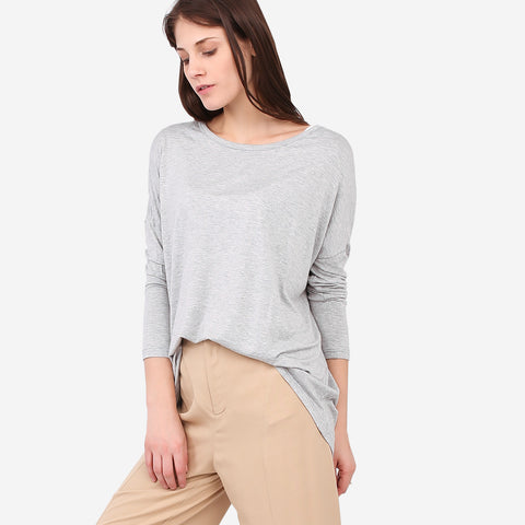 Grey Loose Roundneck Top
