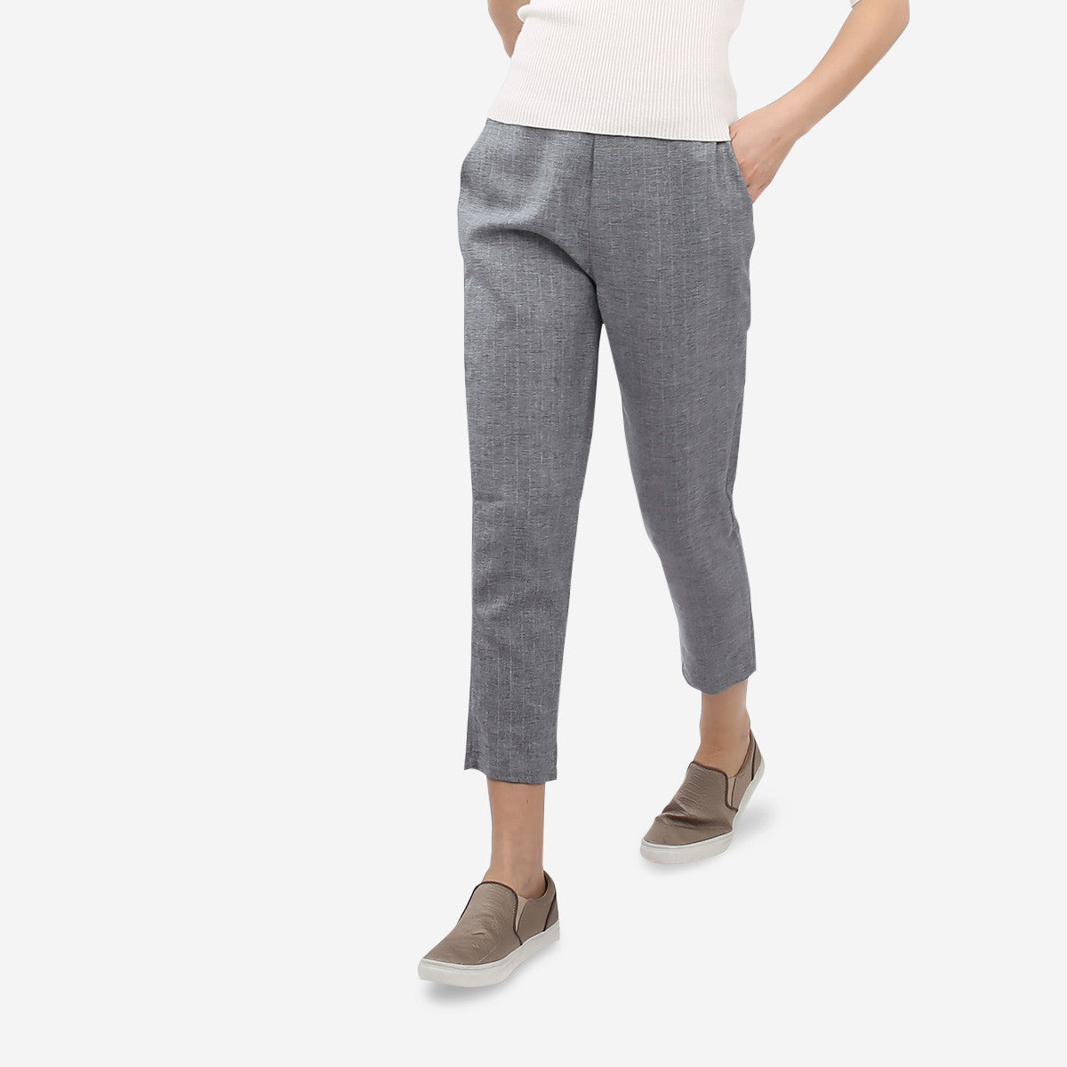 Grey Slim Pants