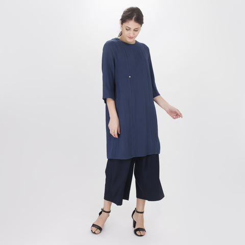 Vanida Blue Long Blouse