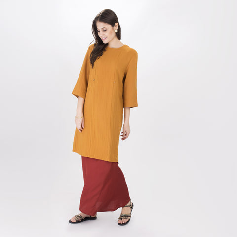 Vanida Yellow Long Blouse