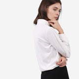 White Double Front Flap Blouse