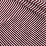 Maroon Tiny Stripes Long Sleeve Tee