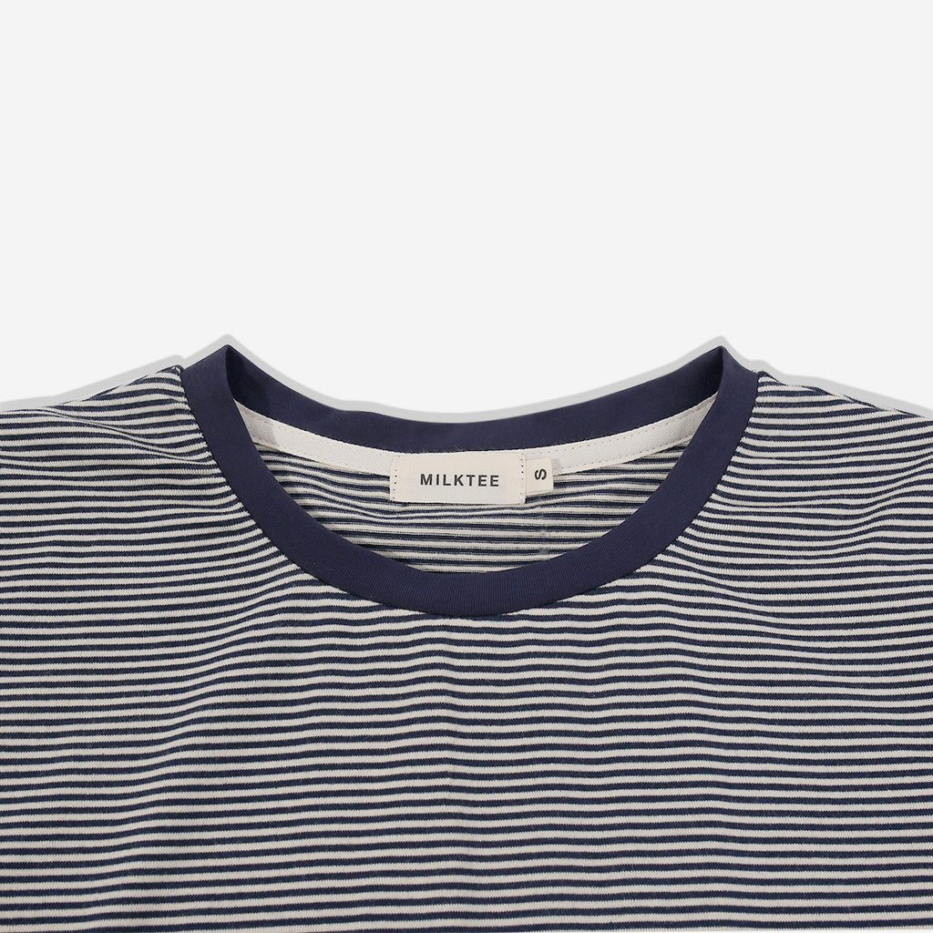 Blue Tiny Stripes Long Sleeve Tee