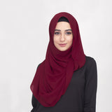 Garnet Red Basic Shawl
