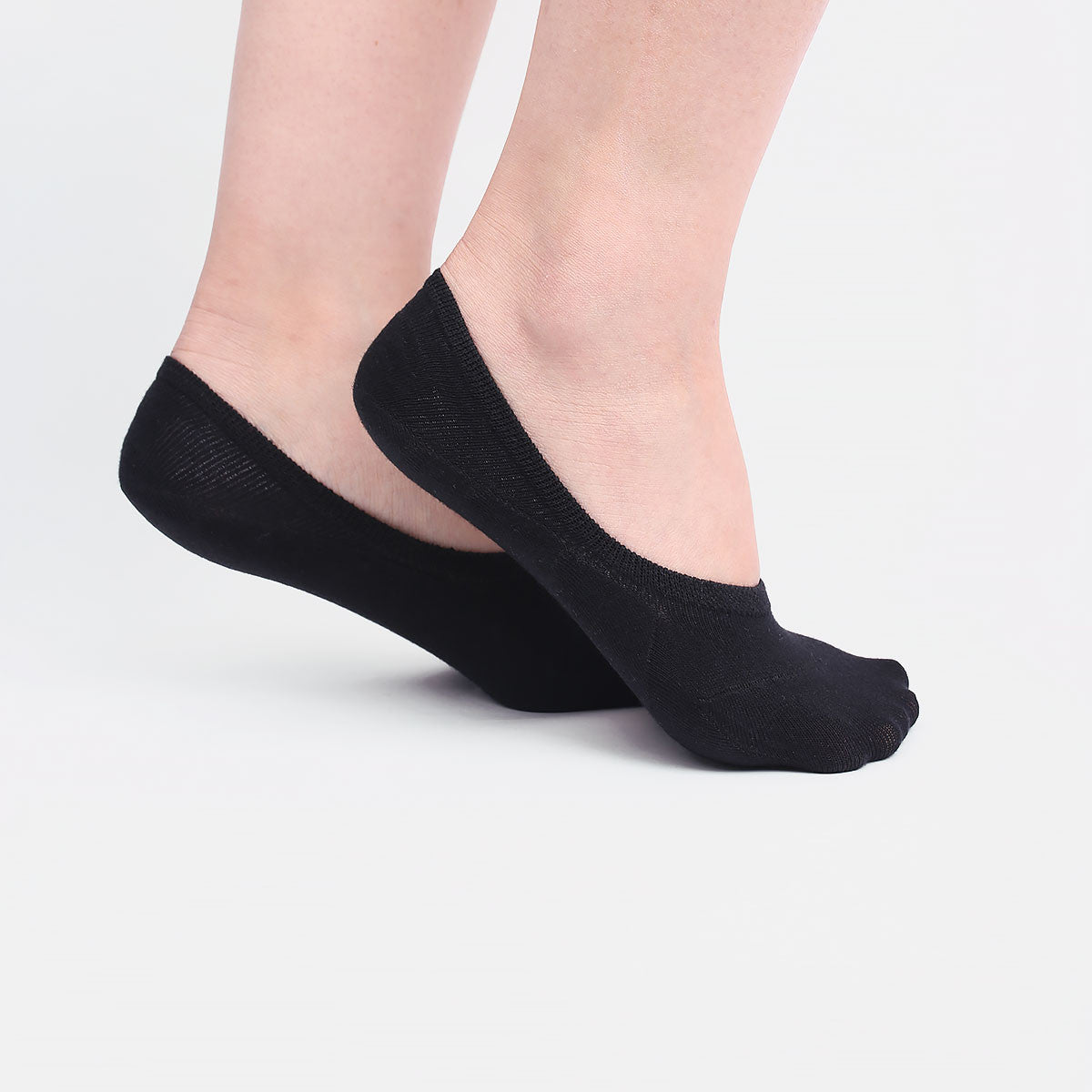 Black Invisible Socks (2 pairs)