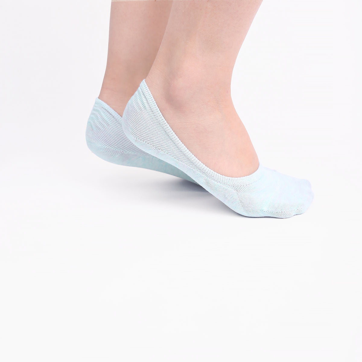 Light Blue Invisible Socks (2 pairs)