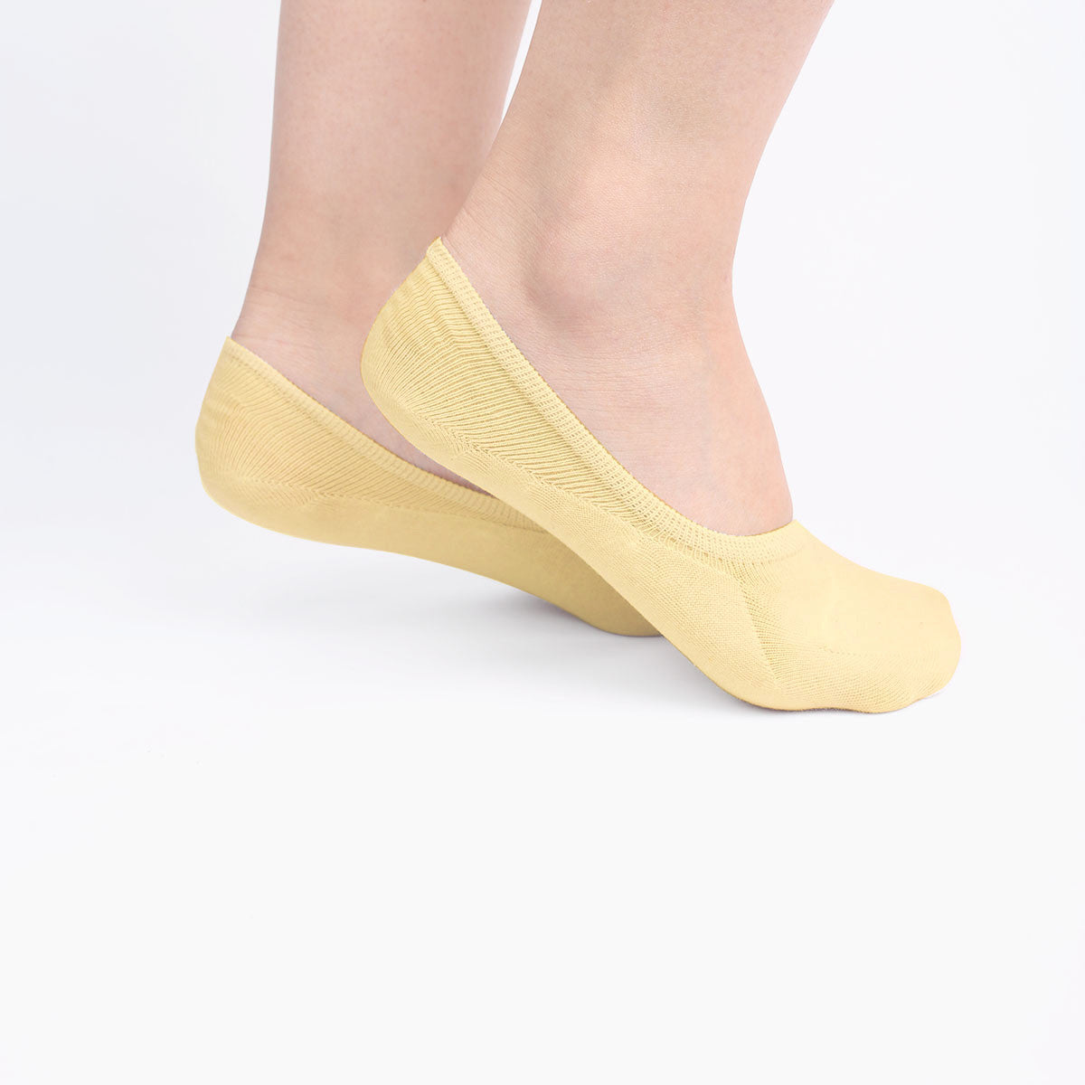 Yellow Invisible Socks (2 pairs)