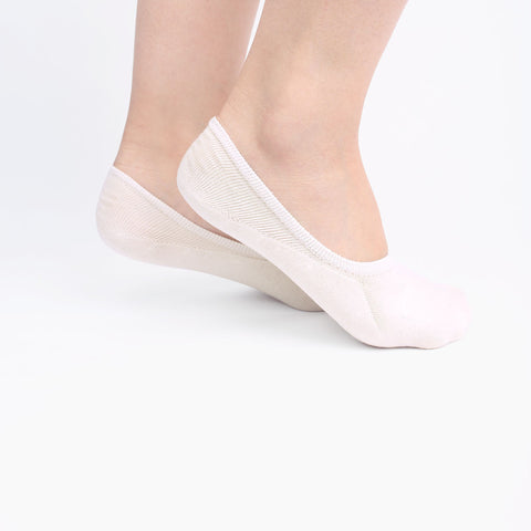 Cream Invisible Socks (2 pairs)