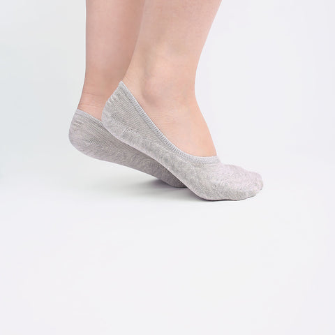 Grey Invisible Socks (2 pairs)