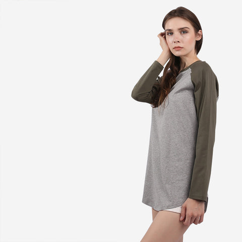 Green and Grey Hanna Raglan