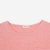 Pink Soft Knit Melange Pocket Tee