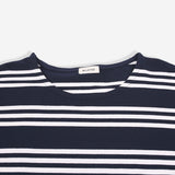 Navy Striped Tunic with Pockets