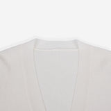 White Side Slits Cardigan