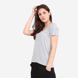 Grey Roundneck Pocket Tee