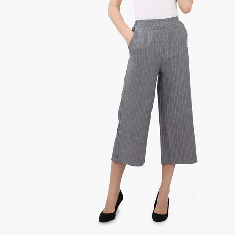 Grey Striped Culottes