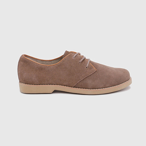 Brown Suede Oxford Shoes