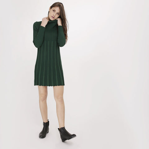 Green Lola Turtleneck Dress
