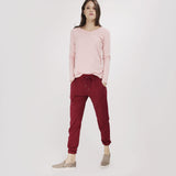 Maroon Basic Sweatpants