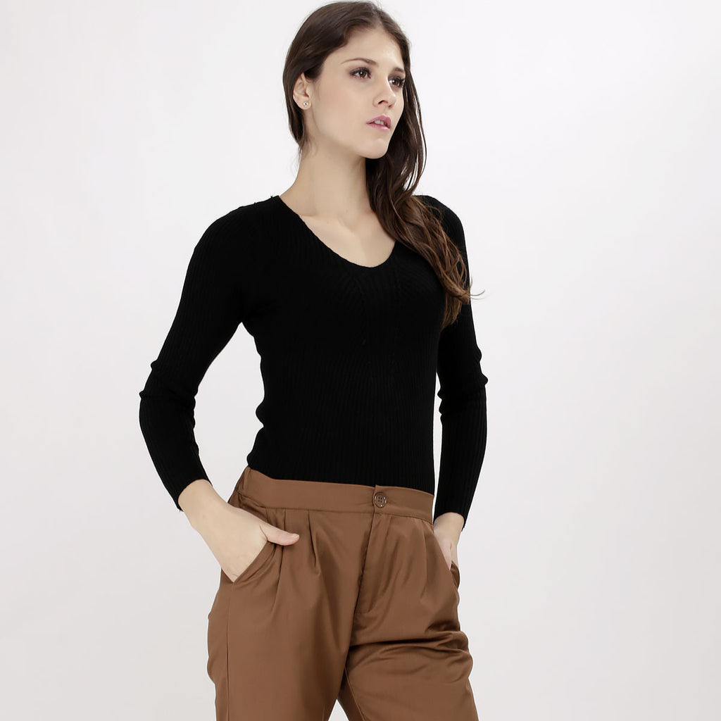 Vanesa Black Knitted Top