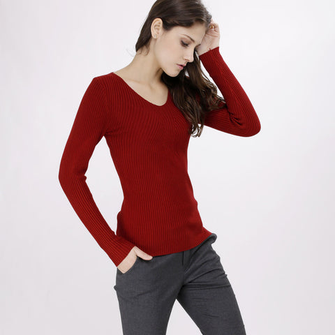 Vanesa Maroon Knitted Top