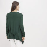 Green Wrap Cardigan