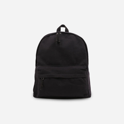 Black Canvas Zip Backpack