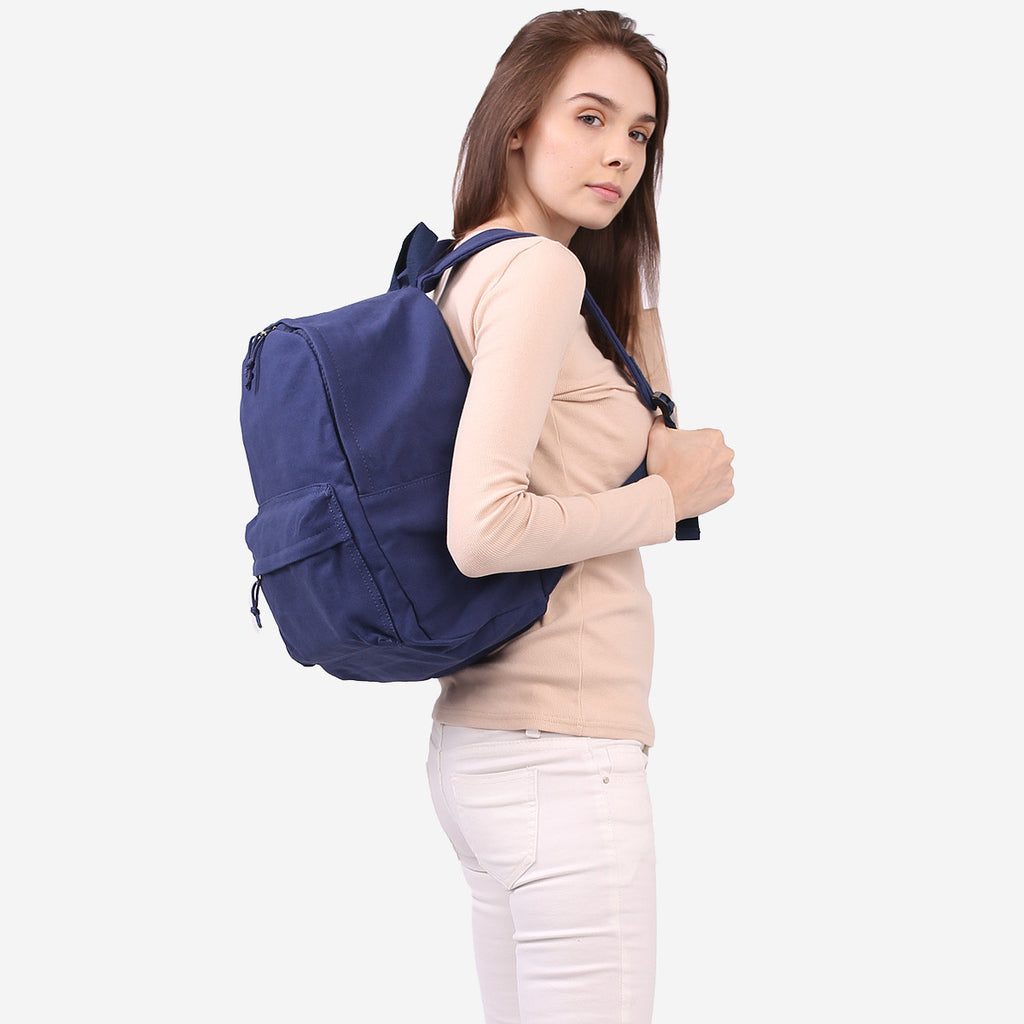 Blue Canvas Zip Backpack