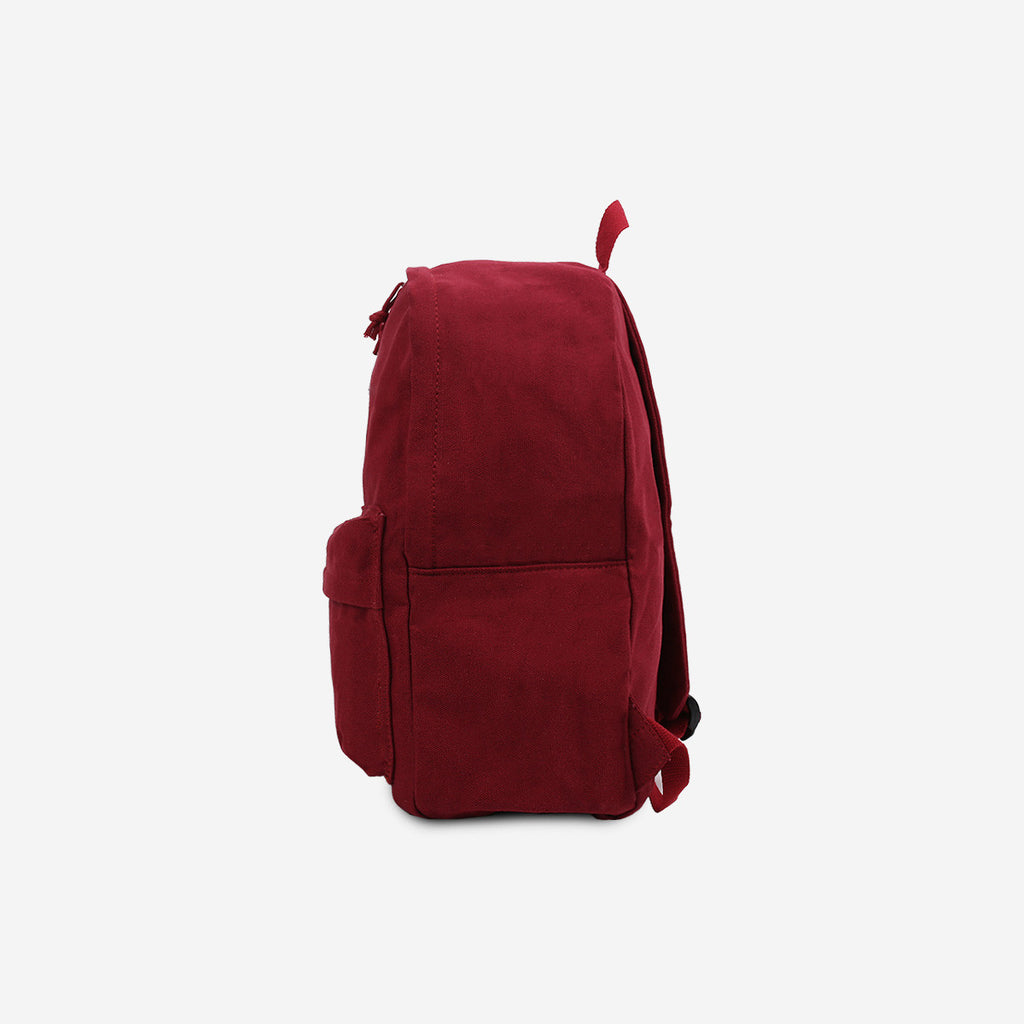 Maroon Canvas Zip Backpack