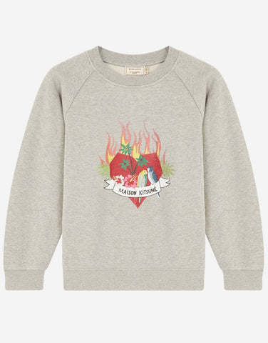 Maison Kitsune Sweatshirt Burning Heart