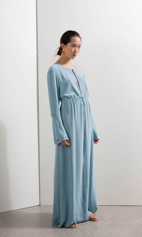 Penny Sage Fade Dress Carolina Blue