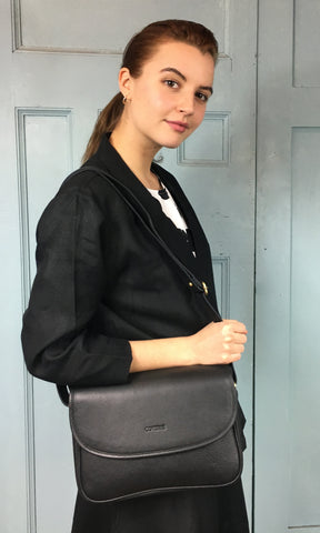 COTERIE Agatha Bag Black Leather