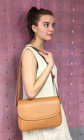COTERIE Agatha Bag Light Tan Leather