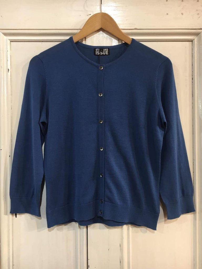 SI Cotton Crew Cardi True Blue