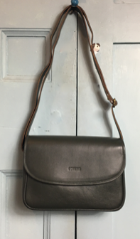 COTERIE Agatha Bag Grey Green Leather