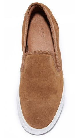 A.P.C. Slip On Noisette Suede