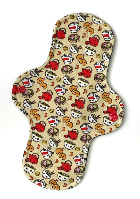 Heavy Absorbency Cloth Pads: Chinese Food