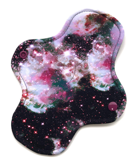 Light Absorbency Cloth Menstrual Pads: Marble Galaxy