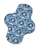Light Absorbency Cloth Menstrual Pads: Arctic Penguins